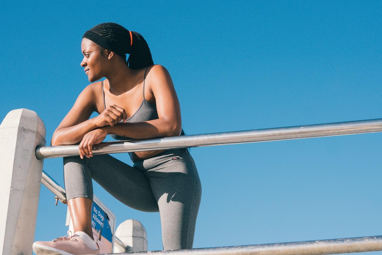 girl exercising outside